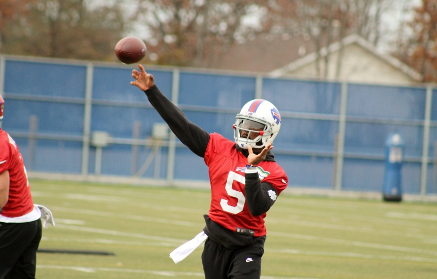 Buffalo Bills quarterback Tyrod Taylor -- Nick Wojton photo